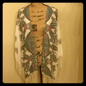 Lightweight fringe cardigan by Reba